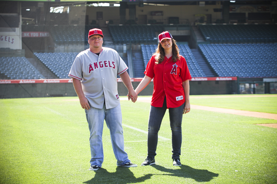 Our Engagement 6 2012 103 Angels Stadium Engagement Shoot