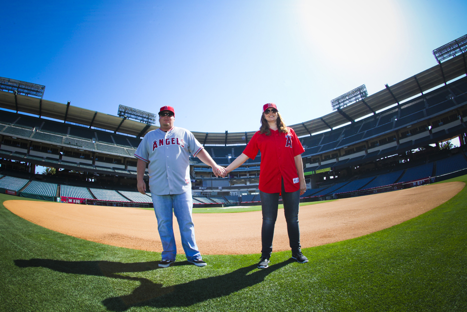 Our Engagement 6 2012 115 Angels Stadium Engagement Shoot