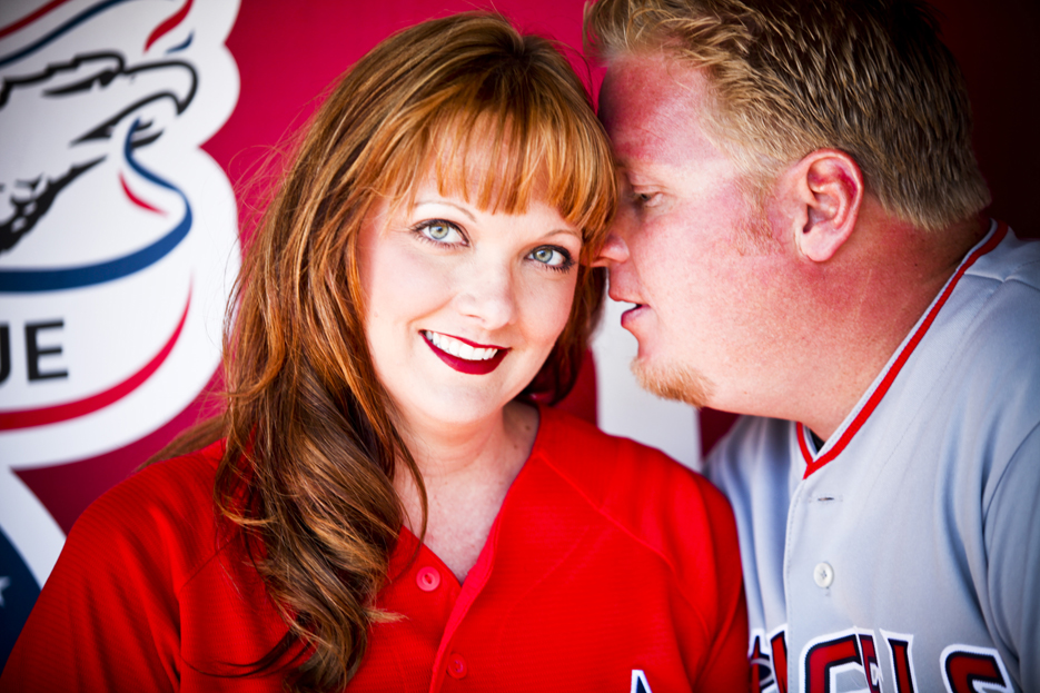 Our Engagement 6 2012 16 Angels Stadium Engagement Shoot