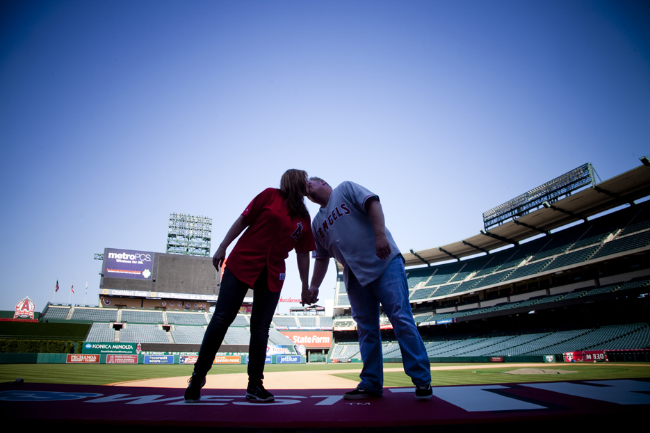 Our Engagement 6 2012 178 Angels Stadium Engagement Shoot