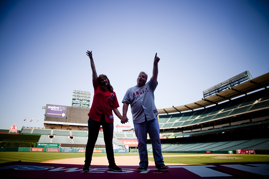 Our Engagement 6 2012 181 Angels Stadium Engagement Shoot