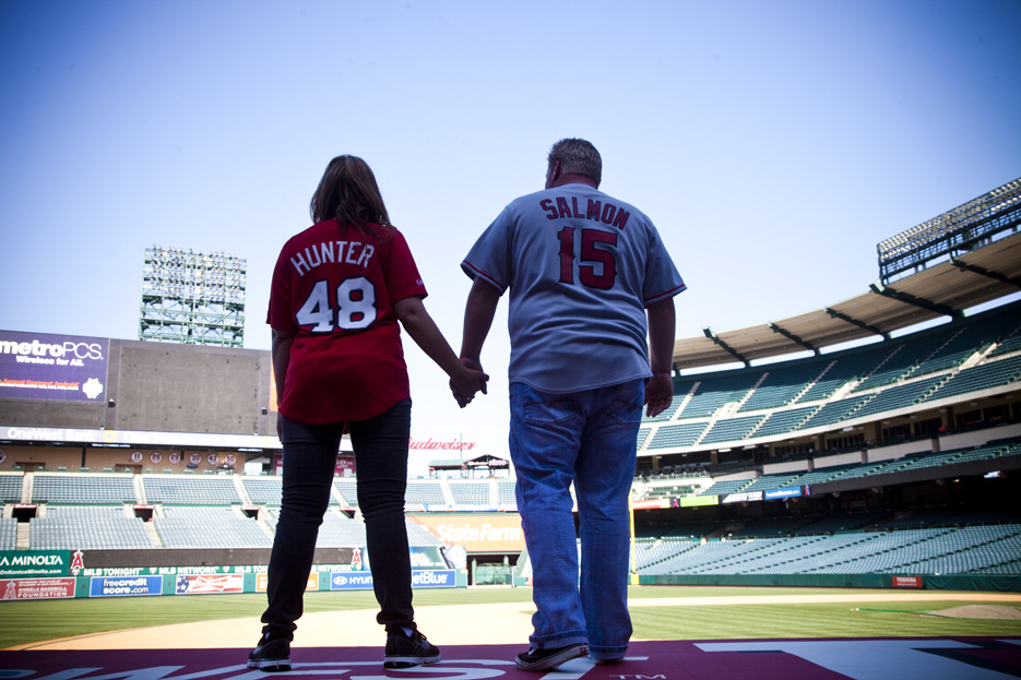Our Engagement 6 2012 183 Angels Stadium Engagement Shoot