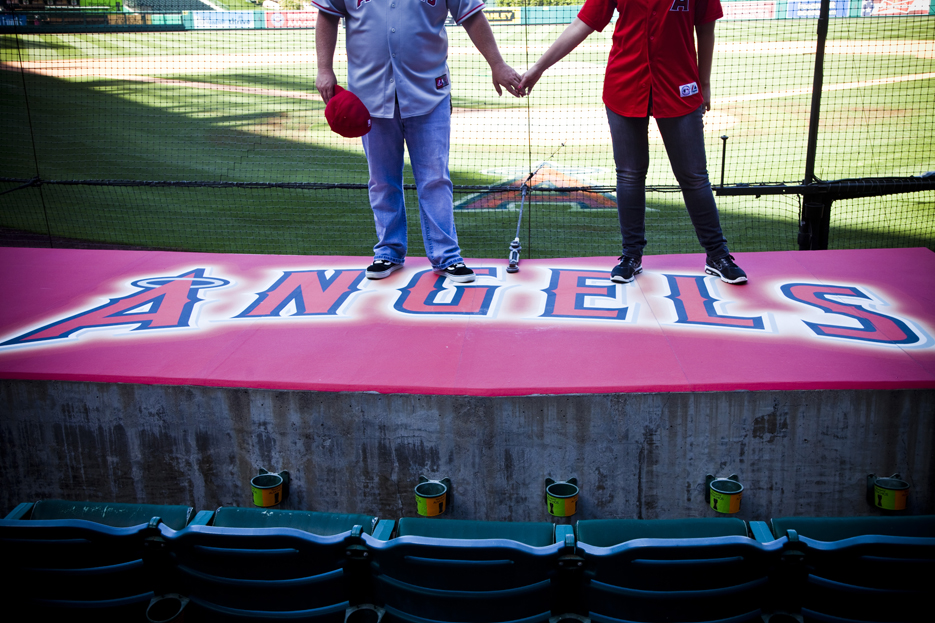 Our Engagement 6 2012 189 Angels Stadium Engagement Shoot