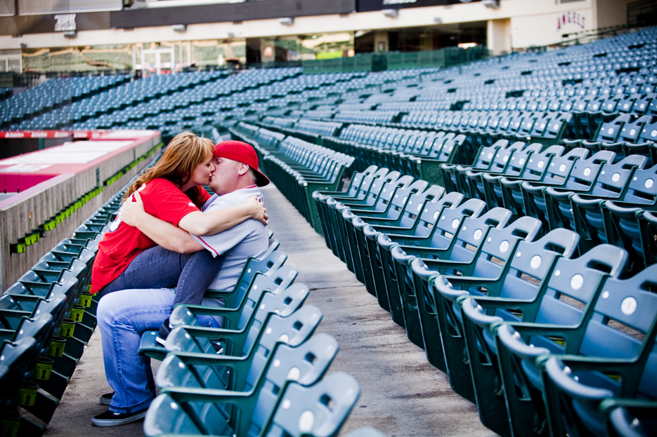 Our Engagement 6 2012 78 Angels Stadium Engagement Shoot