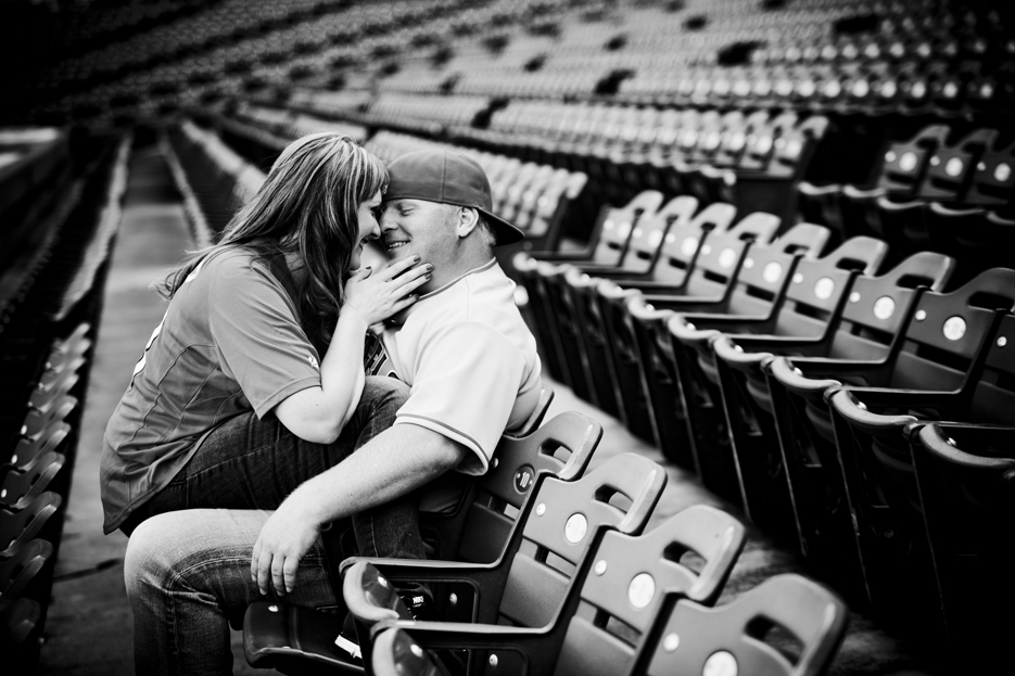 Our Engagement 6 2012 82 Angels Stadium Engagement Shoot